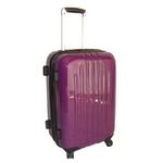 TSAロック搭載 + ONE二重ロック可能 スーツケース LG2017 超軽量小型光沢仕上げ Sサイズ 紫 (1〜3泊 機内持ち込み可)