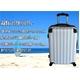 TSAロック搭載 + ONE二重ロック可能 スーツケース 超軽量小型光沢仕上げ Sサイズ (1-3泊 機内持ち込み可) ホワイト 6202 写真2