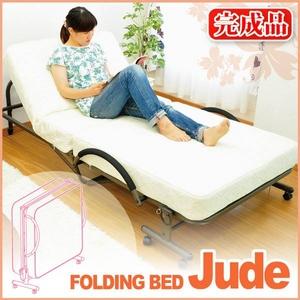 極厚マットレス付折りたたみ式ベッド【Judo-ジュード-】 - 拡大画像