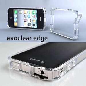 ◆iPhone4S / iPhone4  バンパーケース exoclear edge (エクソクリア エッジ) Clear