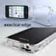 ◆iPhone4S / iPhone4  バンパーケース exoclear edge (エクソクリア エッジ) Smoke Black - 縮小画像1