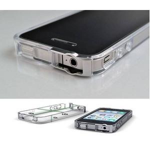 ◆iPhone4S / iPhone4  バンパーケース exoclear edge (エクソクリア エッジ) Smoke Black