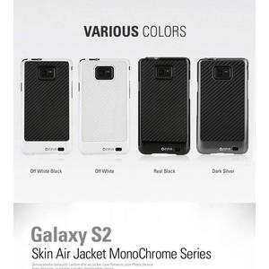GALAXY S2 ケーススタイリッシュなGalaxyS 2ケース Jacket Monochrome●ポリカーボネート● オフホワイトブラック