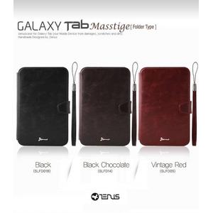 ★Galaxy Tab/ギャラクシー タブ●Messitige Folderレザー風ケース【スタンド付き】-Black