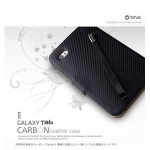 ★Galaxy Tab/ギャラクシー タブ Carbon Leather Case●本革● Black