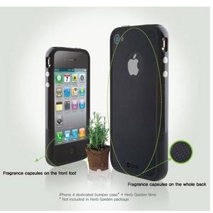 ZENUS(ゼヌス) バーブガーデン◆iPhone4S / iPhone4 対応◆香る液晶指紋防止フィルム レモン