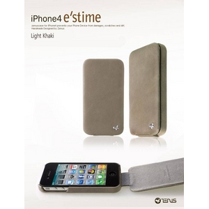 iPhone4S / iPhone4 対応ケース  E`stime Folder 本革 Gold Brown