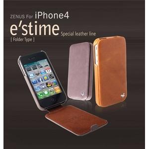 iPhone4S / iPhone4 対応ケース  E`stime Folder 本革 Caramel