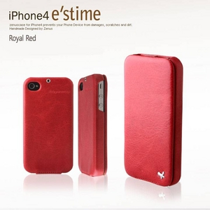 iPhone4S / iPhone4 対応ケース  E`stime Folder 本革 Light Khaki