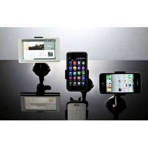 スマートフォンホルダー ★iPhone & 各スマートフォン対応★ 車載・卓上用 カーマウント-White