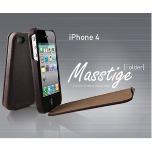iPhone4S / iPhone4 対応ケース 高級感UP! Masstige Forder Black