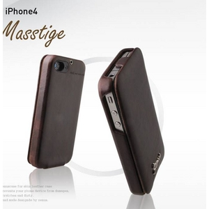 iPhone4S / iPhone4 対応ケース 高級感UP! Masstige Forder Black Choco