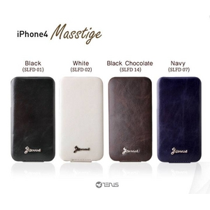 iPhone4S / iPhone4 対応ケース 高級感UP! Masstige Forder White