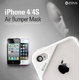 iPHONE4/4Sバンパーケース Air Bumper Mask-Black Black