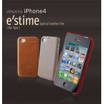 iPhone4S/iPhone4 対応ケース E`stime Bar 本革 Gold Brown