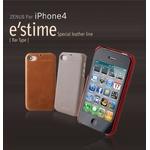 iPhone4S/iPhone4 対応ケース E`stime Bar 本革 Camel