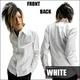 Luxury Black(ラグジュアリーブラック) ドレスタックシャツ WHT(ホワイト) Mサイズ - 縮小画像1