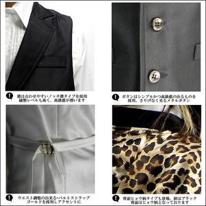 Luxury Black(ラグジュアリーブラック) ノッチ衿シャイニードレスジレ ヒョウ柄 Sサイズ h02