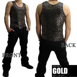 Luxury Black(ラグジュアリーブラック) スターUネックタンクトップ GLD(ゴールド) Sサイズ h02