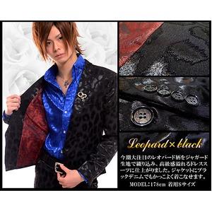 ホスト系ブランドLuxuryBlack(ラグジュアリーブラック)ラグジュアリードレススーツ彩艶Leopord×Black(M) h02
