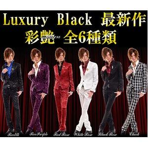 ホスト系ブランドLuxuryBlack(ラグジュアリーブラック)ラグジュアリードレススーツ彩艶Leopord×Purple(M)
