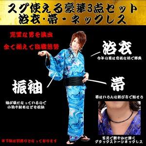 Luxury Black(ラグジュアリーブラック)振袖艶浴衣全14型虹羽(ハルヒ)メンズ浴衣 男性用