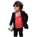 子供 スーツ 男の子 キッズスーツ 3点セット (マットブラックスーツ(L) 120) 子供服