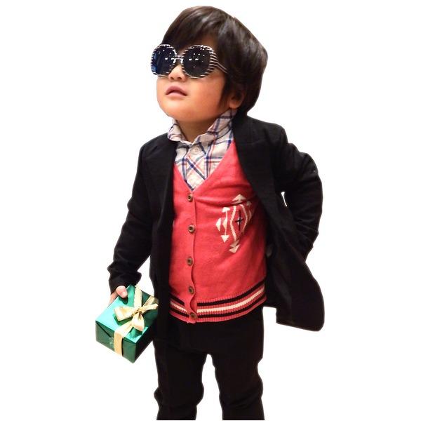 子供 スーツ 男の子 キッズスーツ 3点セット (マットブラックスーツ(XS) 95) 子供服 f00
