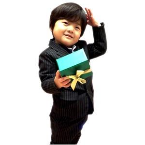 子供 スーツ 男の子 キッズスーツ 3点セット (ストライプスーツ(S) 100) 子供服  h01