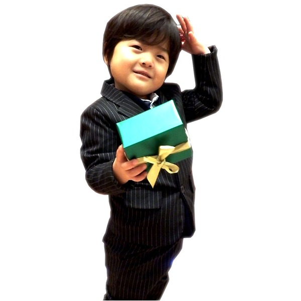 子供 スーツ 男の子 キッズスーツ 3点セット (ストライプスーツ(S) 100) 子供服 f00