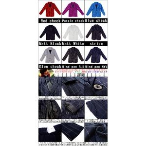子供 スーツ 男の子 キッズスーツ 3点セット (ストライプスーツ(S) 100) 子供服  h03