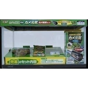 GEX(ジェックス) カメの楽園 450 (カメ用水槽セット) 【ペット用品】 - 拡大画像
