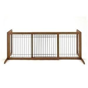 Richell(リッチェル) ペット用木製おくだけゲートワイド (犬用ゲート) 【ペット用品】 - 拡大画像