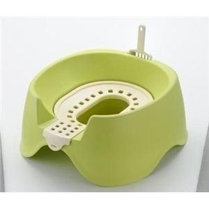 Richell(リッチェル) 節約簡単ネコトイレ グリーン (猫用トイレ用品) 【ペット用品】 - 拡大画像