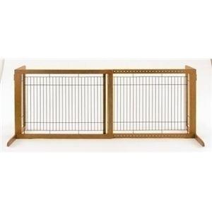Richell(リッチェル) 木製おくだけゲート ハイW (犬用ゲート) 【ペット用品】 - 拡大画像
