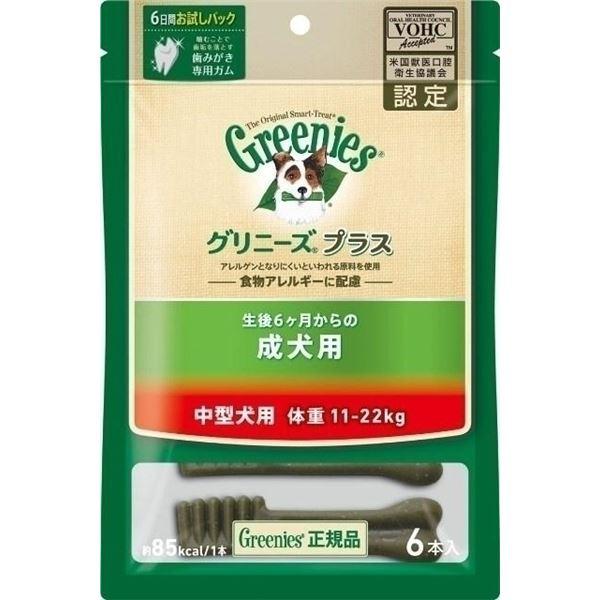 ニュートロジャパン グリニーズP成犬中型11-22kg 6P 【ペット用品】f00