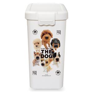 伊勢藤 THE DOG フードBOX L【ペット用品】【フードストッカー】 - 拡大画像