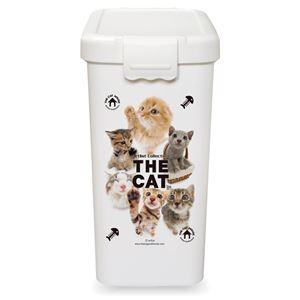 伊勢藤 THE CAT フードBOX L【ペット用品】【フードストッカー】 - 拡大画像