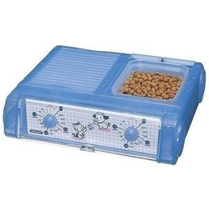 山佐時計計器 ペット自動給餌器 わんにゃんぐるめ クリアブルー CD-400(CBL)【ペット用品】