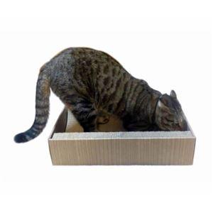 ペットプロ 猫ちゃんのつめみがき U字型 木目BOX付 2個入 【爪磨き】 【ペット用品】