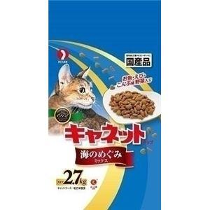 (まとめ)ペットライン キャネットチップ海のめぐみ 2.7kg 【猫用・フード】【ペット用品】【×5セット】