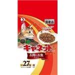 (まとめ)ペットライン キャネットチップ お肉とお魚 2.7kg 【猫用・フード】【ペット用品】【×5セット】
