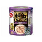 (まとめ)アイシア 純缶 まぐろフレーク125g×3P【猫用・フード】【ペット用品】【×18セット】