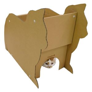 ドギーマンハヤシ 猫ファニチャー にゃんテリア ねこ型ハウス 【ペット用品】 - 拡大画像