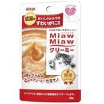 (まとめ)アイシア MiawMiawクリーミーパウチずわい40g 【猫用・フード】【ペット用品】【×48セット】