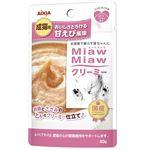 (まとめ)アイシア MiawMiawクリーミーパウチ甘えび40g 【猫用・フード】【ペット用品】【×48セット】