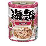 (まとめ)アイシア 海缶ミニ3P かつお 60g×3 【猫用・フード】【ペット用品】【×24セット】