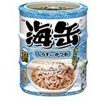 (まとめ)アイシア 海缶ミニ3P しらす入りかつお 60g×3 【猫用・フード】【ペット用品】【×24セット】