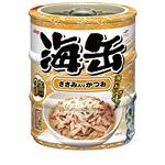 (まとめ)アイシア 海缶ミニ3P ささみ入りかつお 60g×3 【猫用・フード】【ペット用品】【×24セット】