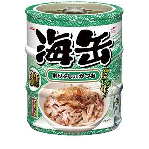 (まとめ)アイシア 海缶ミニ3P 削りぶし入りかつお 60g×3 【猫用・フード】【ペット用品】【×24セット】